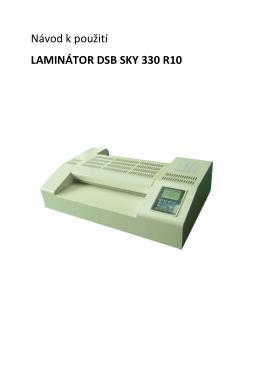 Návod k použití LAMINÁTOR DSB SKY 330 R10 - Texpo