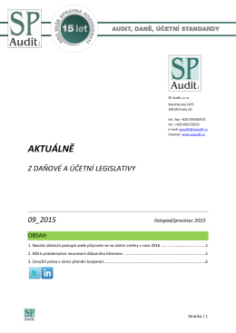 Bulletin SP Audit 09/2015
