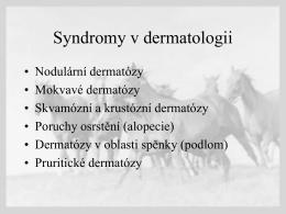 Dermatozy koni I