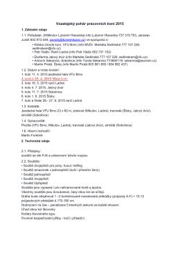 Vozatajský pohár pracovních koní 2015 2. KOLO 25. 4. 2015 M
