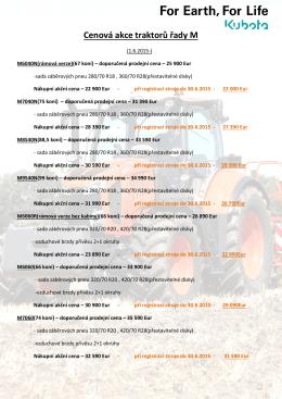 Cenová akce traktorů řady M