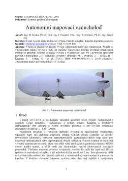 Autonomní mapovací vzducholoď