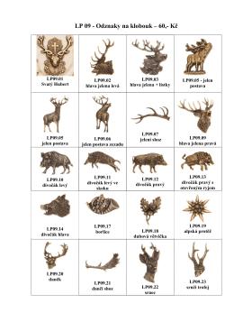 myslivecké odznaky 2015