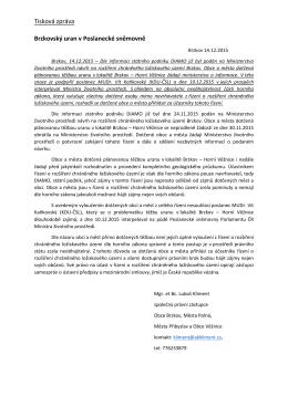tisková zpráva-Brzkovský uran v Poslanecké sněmovně 14.12.2015