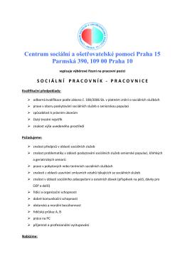 Centrum sociální a ošetřovatelské pomoci Praha