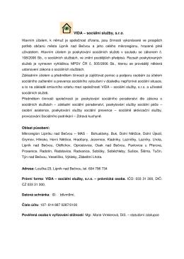 VIDA – sociální služby, s.r.o.