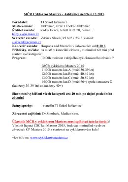 MČR Cyklokros Masters - Jabkenice neděle 6.12