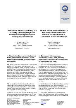 Všeobecné podmínky pro certifikaci