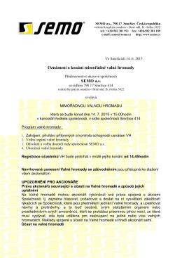 Pozvánka na Valnou hromadu 2015 7 volby DR internet