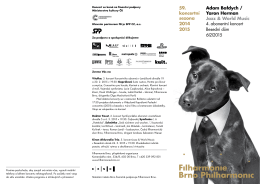 59. koncertní sezona 2014 2015 Adam Bałdych
