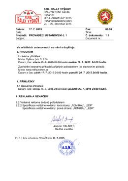 Prováděcí ustanovení č.1 ()