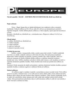Návod k použití: MAGIC – SOFTBOX PRO EXTERNÍ BLESK 40x40
