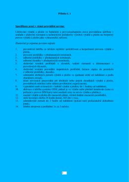 ÚMOb Poruba_Servis výtahů 2015_P1 a P2_Specifikace prací