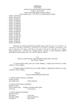 stručný výtah vyhlášky č. 395_1992 Sb.