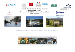 "French-Czech-Slovak Winter Seminar ""Nuclear Fuel Cycle"""