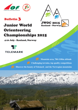 JWOC 2015 Bulletin 3
