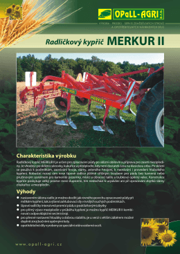 Radličkový kypřič MERKUR II