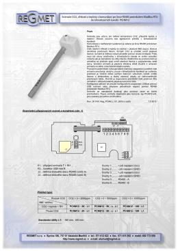 Snímače CO2, vlhkosti a teploty s komunikací po lince RS485