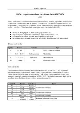 USPY - Loger komunikace na sériové lince UART-SPY