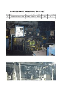 Automatická formovací linka Multomatic - GISAG Lipsko