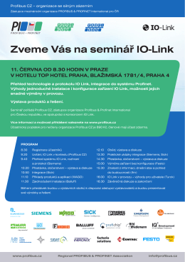 Zveme Vás na seminář IO-Link