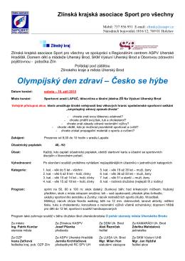 Olympijský den zdraví – Česko se hýbe