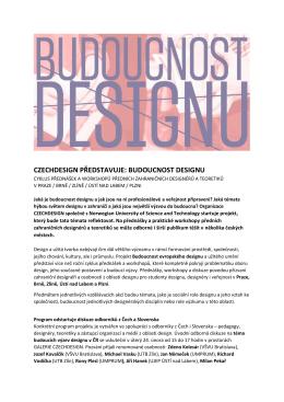 czechdesign představuje: budoucnost designu