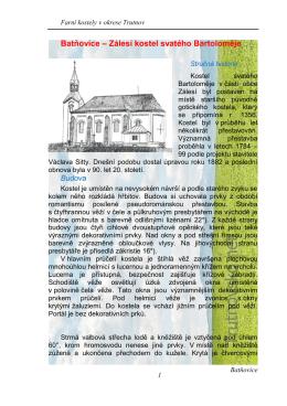 Batňovice – Zálesí kostel svatého Bartoloměje