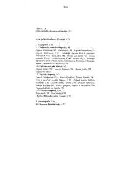 Obsah Úvodem / 13 Legenda Kristiánova /40 Crescente jíd, /42