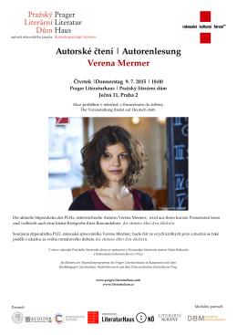 Autorské čtení   Autorenlesung Verena Mermer