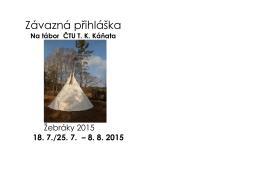 Přihláška na tábor Žebráky 2015