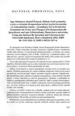 RECENZJE, OMÓWIENIA, NOTY Inge Ohnheiser, Rudolf Śramek