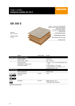 technický list | dd 350 s