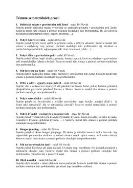 Témata seminárních prací