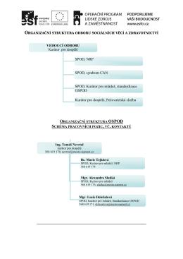 Organizační struktura odboru a OSPOD