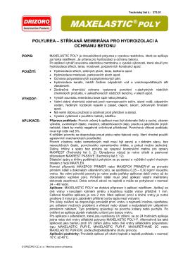 MAXELASTIC®POLY - DRIZORO CZ, s.r.o.