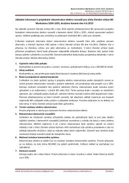 Základní informace k projektu rekonstrukce elektro