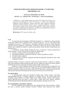 posouzení provozuschopnosti ohybu vt parovodu prostředky ffs