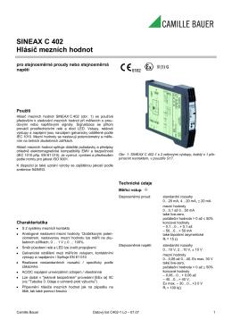 SINEAX C 402 Hlásič mezních hodnot