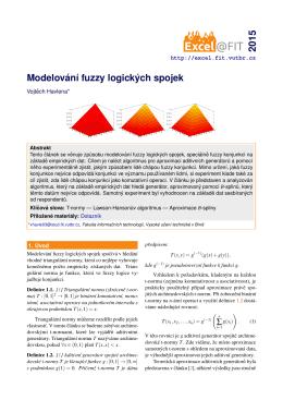Modelování fuzzy logických spojek