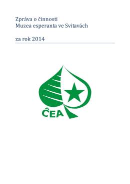 Zpráva o činnosti Muzea esperanta 2014
