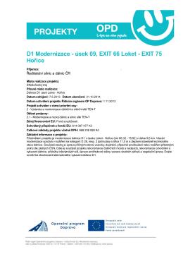 D1 Modernizace - úsek 09, EXIT 66 Loket