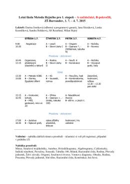 Program letní školy - H-mat