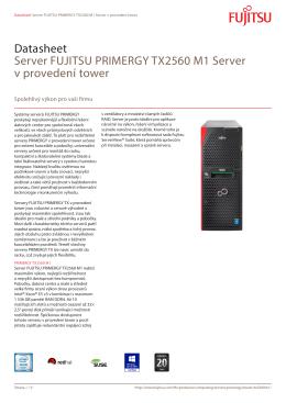 Datasheet Server FUJITSU PRIMERGY TX2560 M1 Server v