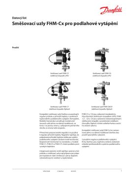 Směšovací uzly FHM-Cx pro podlahové vytápění