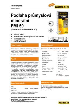 Podlaha průmyslová minerální FMI 50 (Fließmasse