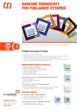 barevné termostaty pro podlahové vytápění - V