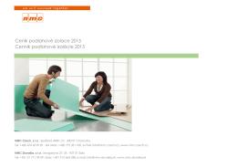 Ceník podlahové izolace 2015 Cenník podlahové
