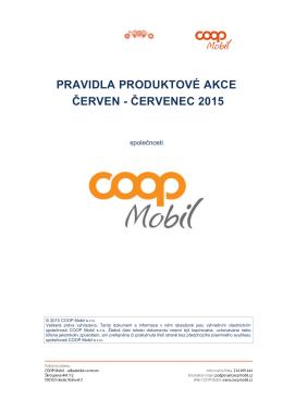 pravidla produktové akce červen - červenec 2015