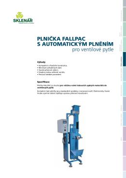 PLNIČKA FALLPAC S AUTOMATICKÝM PLNĚNÍM pro ventilové pytle